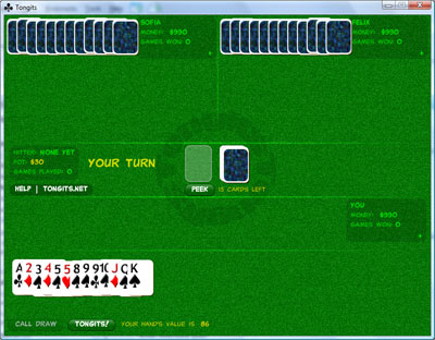 Tongits Game runs on Adobe Air