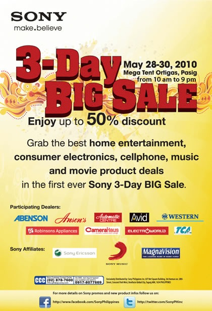 Sony 3-Day Sale