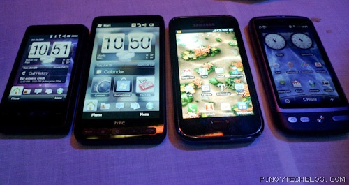 HTC Mini, HTC HD2, Samsung Galaxy S, HTC Desire