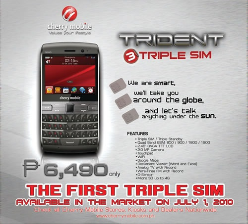 Cherry Mobile Trident, the first triple-sim phone in the market