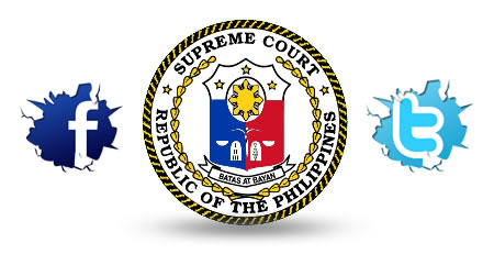 Supreme Court of the Phillipines is now in Facebook and Twitter