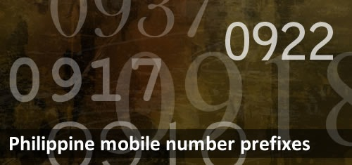 Mobile Number Prefixes in the Philippines