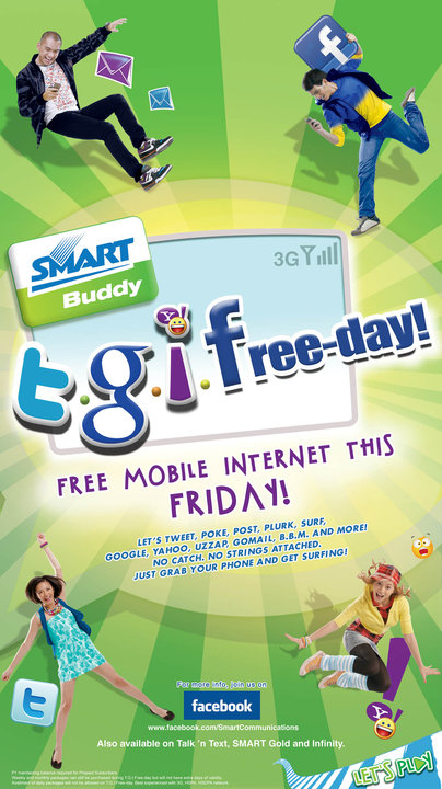 T.G.I.Freeday: Smart offers free mobile surfing this Friday