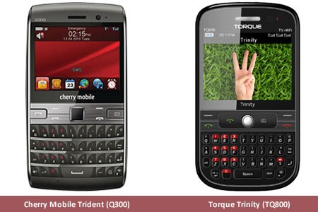 Torque Trinity and Cherry Mobile Trident specs comparison