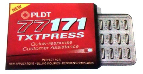 Report a PLDT problem via SMS with 77171 TXTPRESS