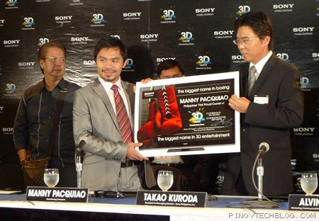 Manny Pacquiao teams up with Sony to bring 3D Entertainment to Filipinos