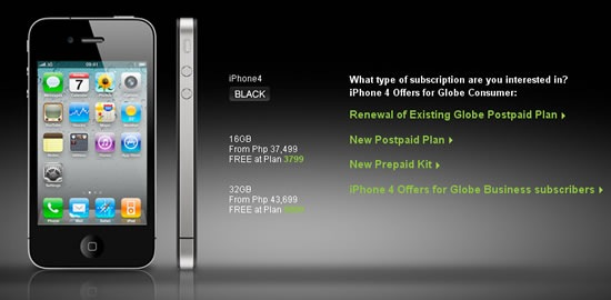 iPhone 4 will be available on Sept. 26 via Globe