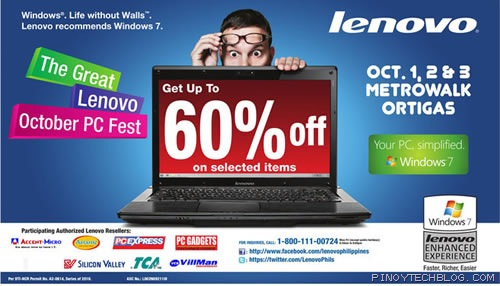 Get your laptop or desktop PC at the Great Lenovo October PC Fest