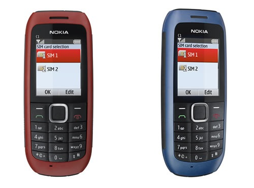 Nokia C1-00 dual sim goodness now available