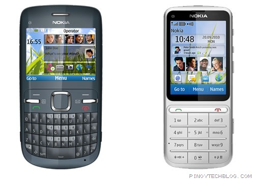 Nokia C3 vs Nokia C3-01 Touch and Type