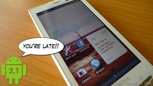 Android 2.1 on Xperia X10 is late