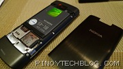 Nokia X3-02 back panel removed