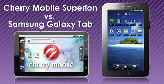 Cherry Mobile Superion vs Samsung Galaxy Tab