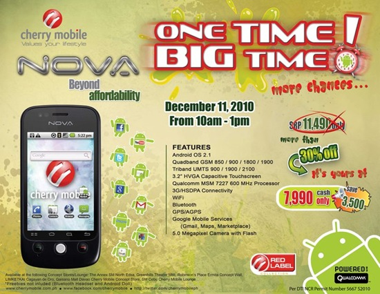 Cherry Mobile Nova Sale