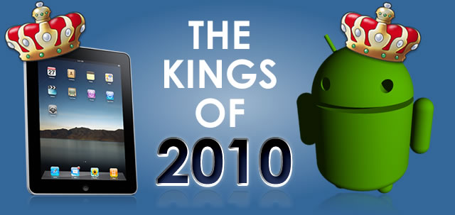Apple's iPad and the Android, biggest winners of 2010