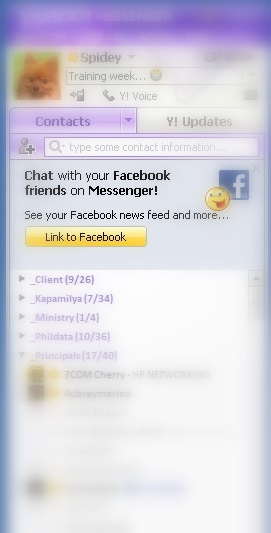 Chat with your Facebook friends in Yahoo! Messenger 11.0