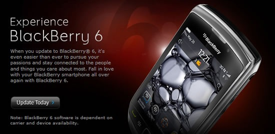 BlackBerry 6 OS upgrade