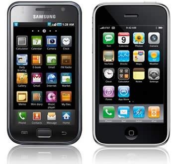 samsung galaxy s and iphone 3g