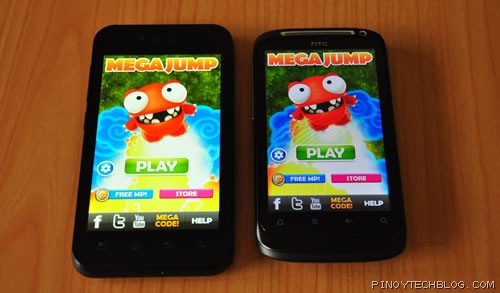 LG Optimus Black display vs HTC Desire S