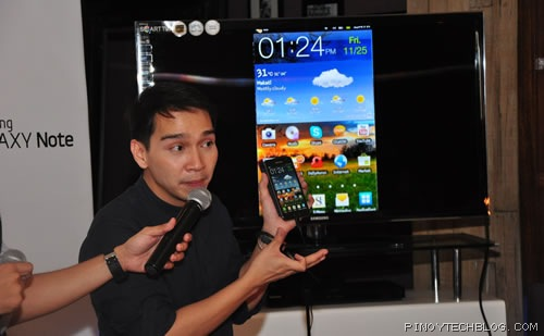 Samsung Galaxy Note launch