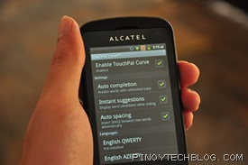 Alcatel Blaze Glory 918N Touchpal