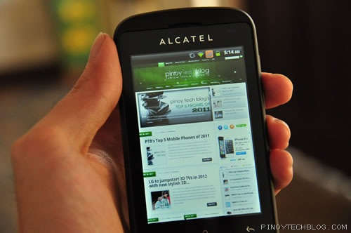 Alcatel Blaze Glory 918N browser