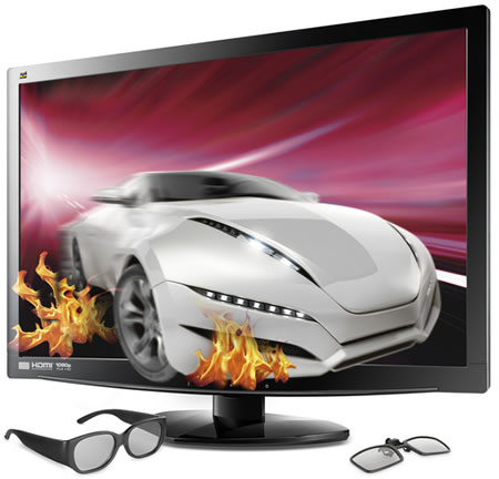 ViewSonic pushes 3D use at home with their 23-inch V3D231 3D LED ...