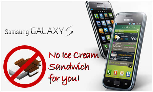 Ice Cream Sandwich update, even a toned down version, well, it's not