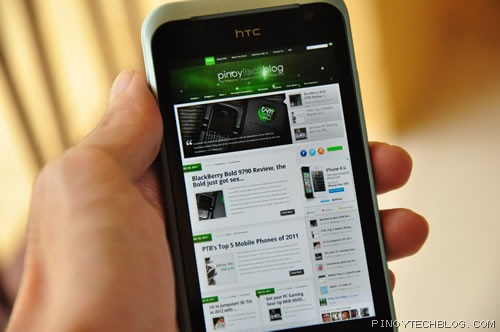 htc rhyme browser