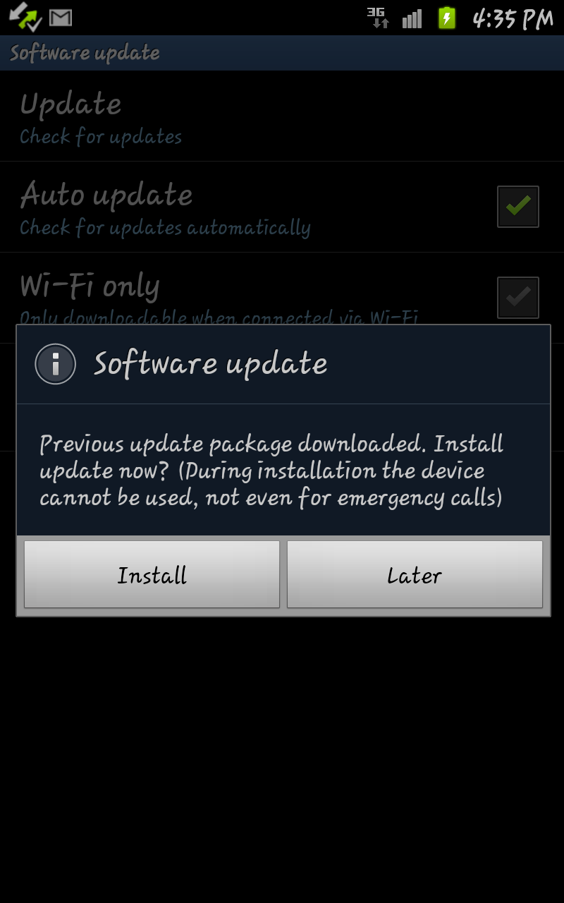 samsung galaxy note android 2.3.6 update