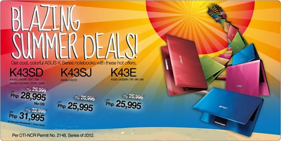 asus blazing summer deals