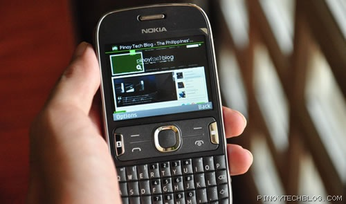 nokia asha 302 browser
