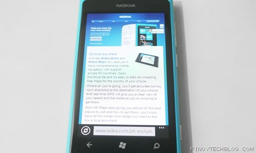 Nokia Lumia 800 IE