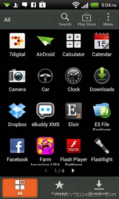 htc one v app drawer
