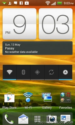 htc one v homescreen