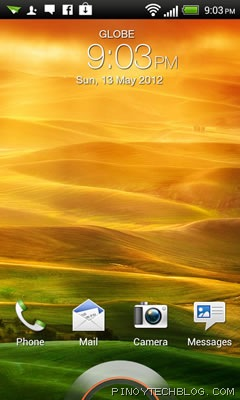 htc one v lockscreen