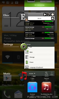 htc one v recent apps
