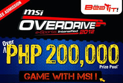 Are you ready for the MSI Overdrive 2012? Event starts on July 6