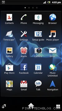 sony xperia p app drawer