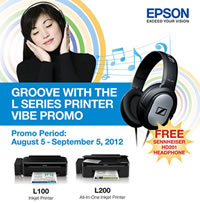 Get a Sennheiser HD201 when you buy an Epson Ink Tank System printer