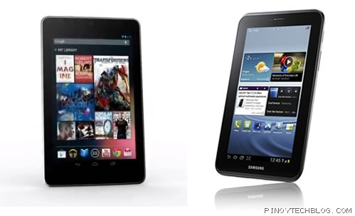 nexus 7 galaxy tab 2
