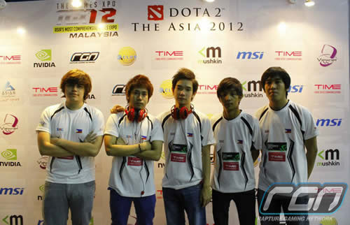 Team Pagibig.tnc represented the Philippines at the Dota 2: The Asia 2012