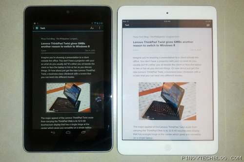 ipad mini nexus 7 pulse