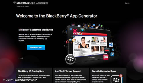 BlackBerry App Generator