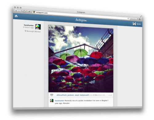 Instagram web browser