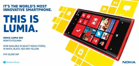 Nokia Lumia 920 available