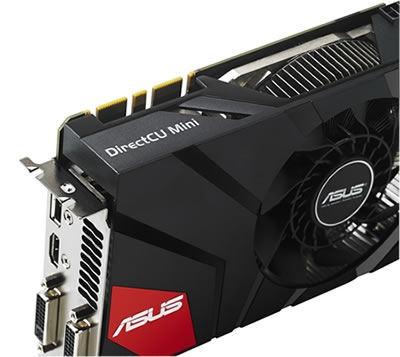 ASUS GeForce GTX 670 DirectCU Mini close up view