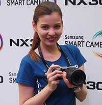 The Samsung NX300, an ultra-fast interchangeable lens camera