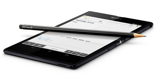 Sony Xperia Z Ultra pencil
