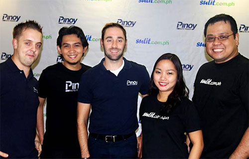 Pinoy Auto Trader and Sulit.com.ph Founders: (from left) Christopher Franks, Reynaldo Castellano III, Daniel Scott, Arianne David and RJ David
